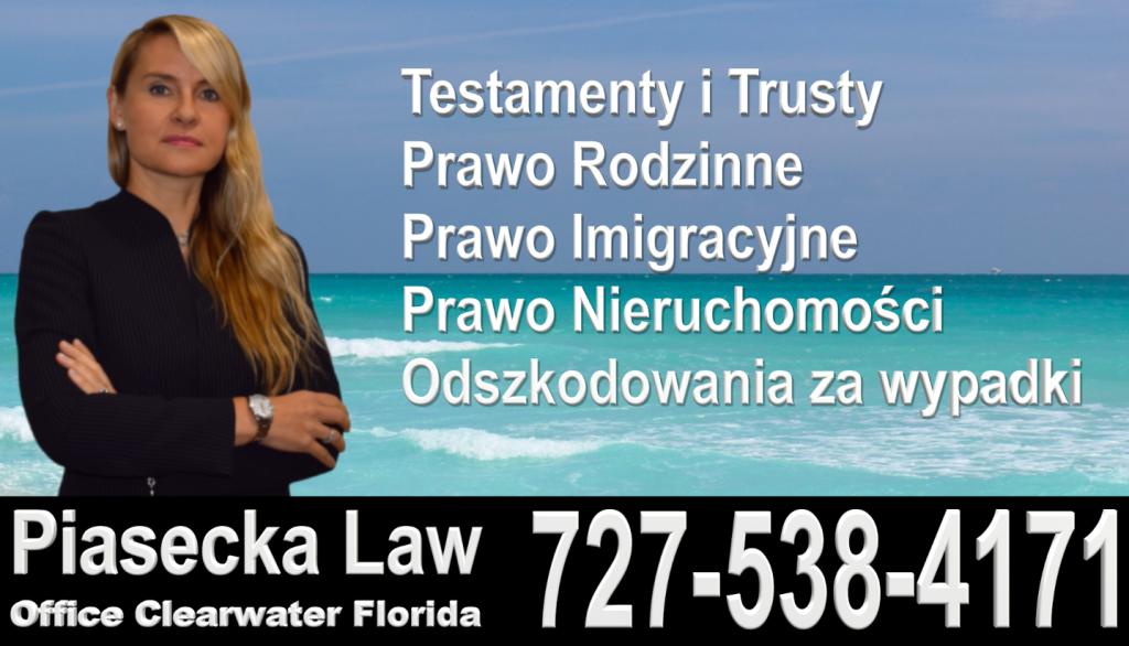 Polski, Prawnik, Adwokat, Floryda, USA, Polish, Attorney, Lawyer, Florida, Agnieszka Piasecka, Aga Piasecka, Piasecka