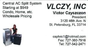 Central AC Split System - Victor Czyszczon