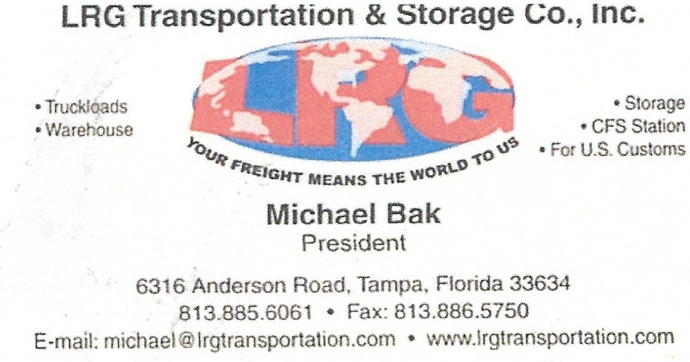 LRG Transporation, Michael Bak, Polskie Usługi transportowe, Polish, transport, trucks, Florida, Floryda