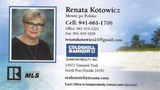 Renata Kotowicz - Realtor SARASOTA