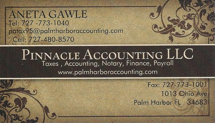 Aneta Gawle - Accountant - Pinnacle Accounting LLC