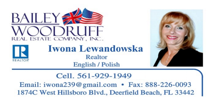 Iwona Lewandowska - Polish Realtor in Broward