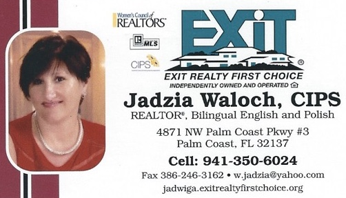 Jadzia Waloch - Polish Realtor in Flagler County