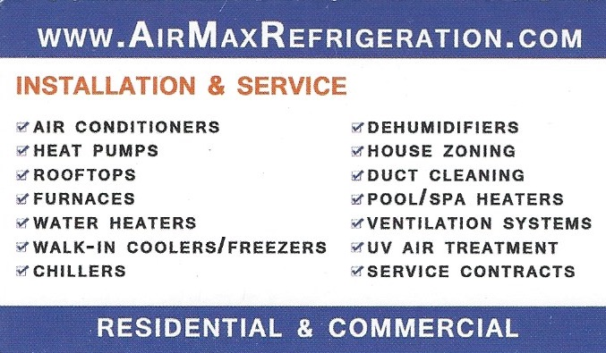 AirMaxRefrigeration - Cooling and Heating