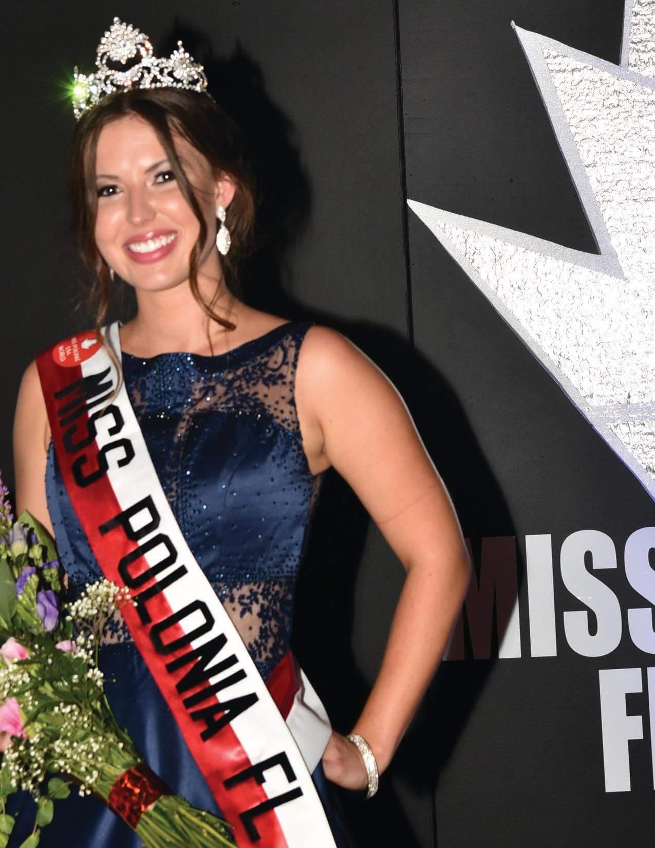 Olivia Kisielewski - Titleholder of the Miss Polonia Florida 2019