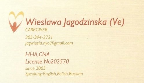 Polish Caregiver in South-East Florida - Miami Broward Palm Beach