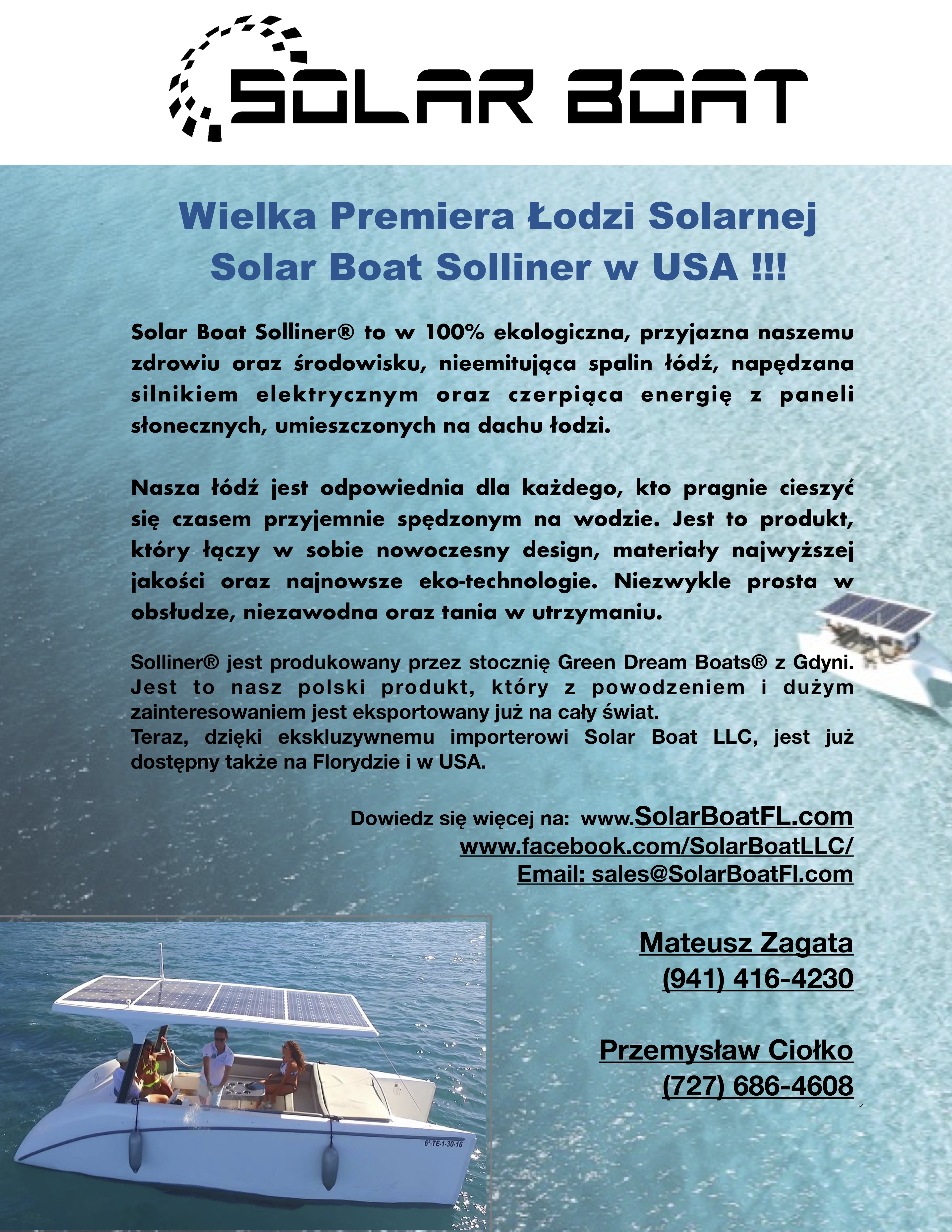 Polonian Echo Solar Boat