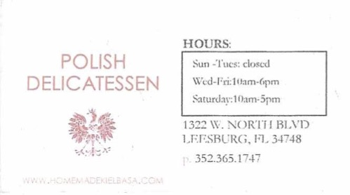 Polish Delicatessen Deli- Leesburg Lake County