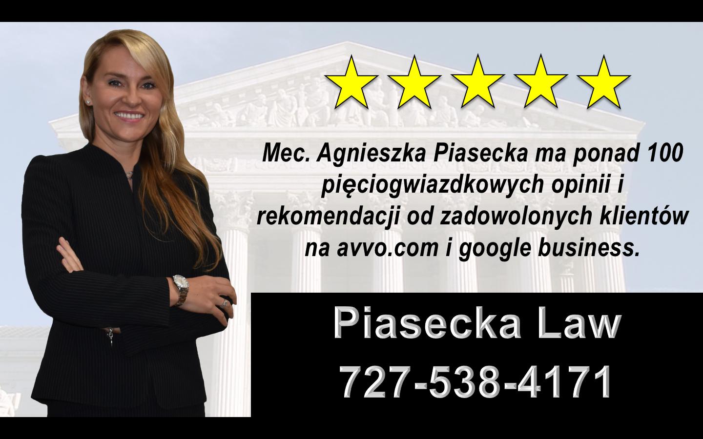 Agnieszka Aga Piasecka Reviews Polski, Prawnik, Adwokat, Floryda, USA