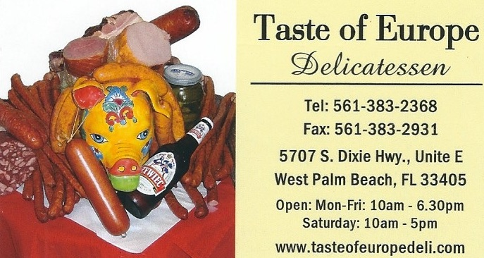 Taste of Europe Deli West Palm Beach1