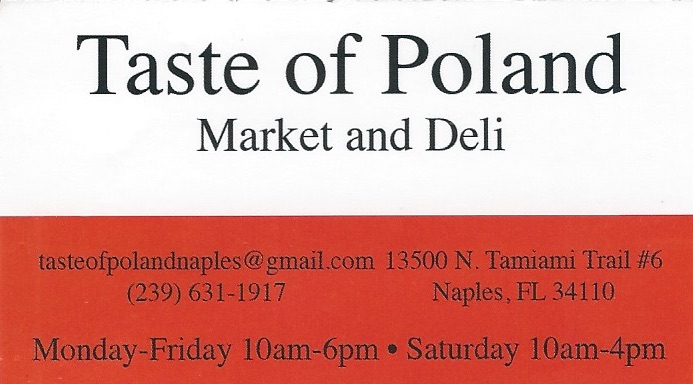 Taste of Poland Naples FL