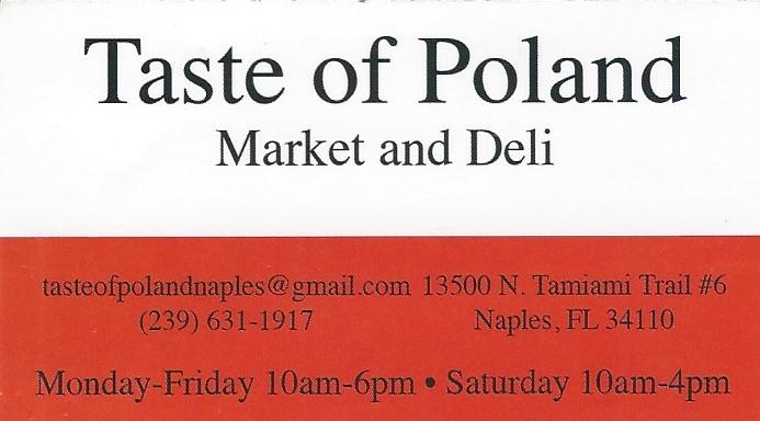 Taste of Poland Naples FL