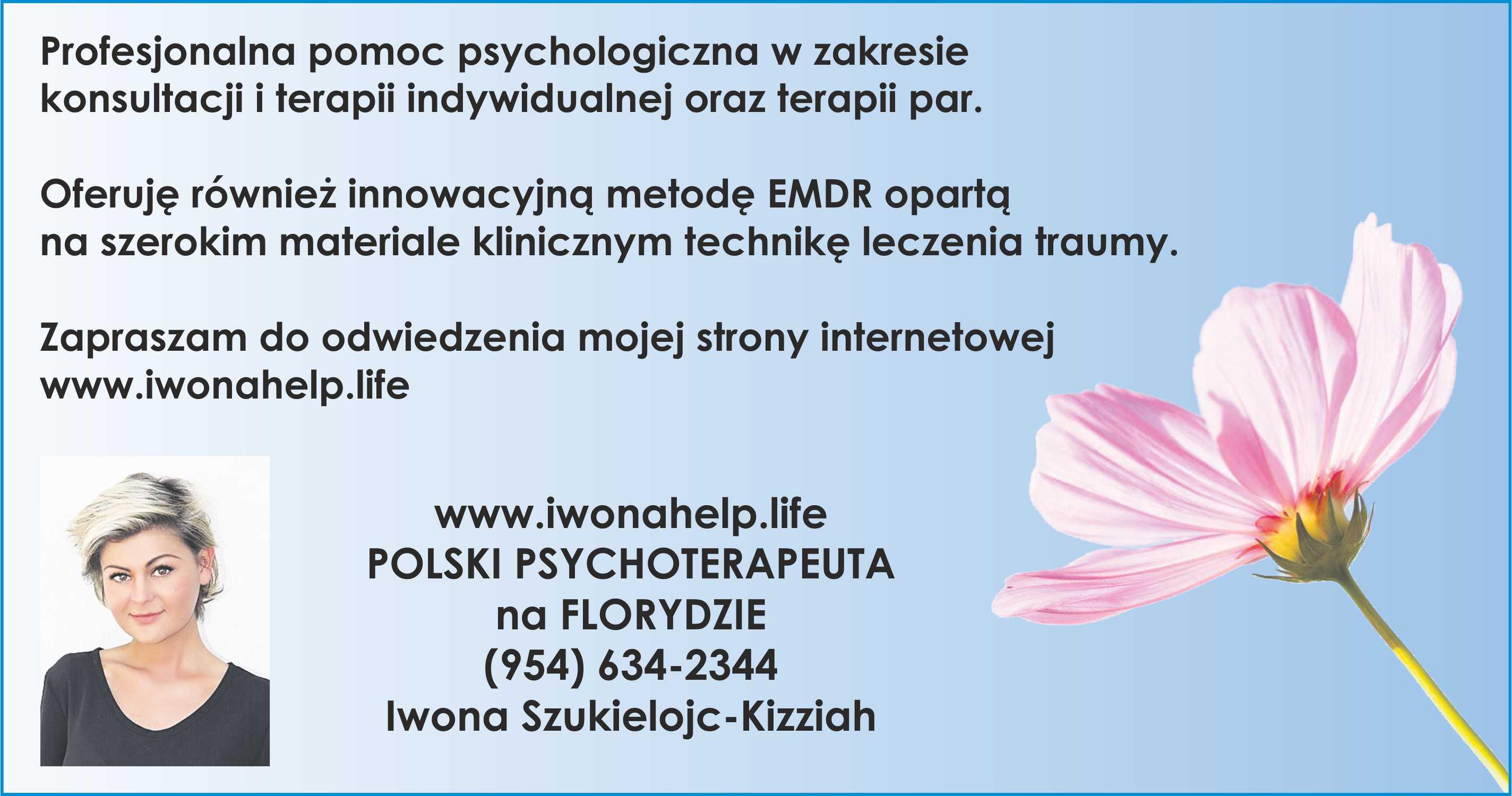 iwona szukielojc-kizzach - Polish psychotherapist