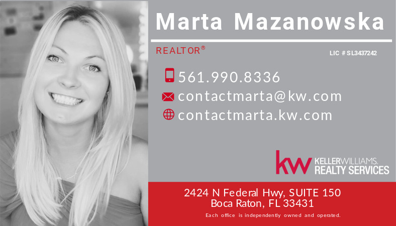 Marta Mazanowska Realtor in Boca Raton
