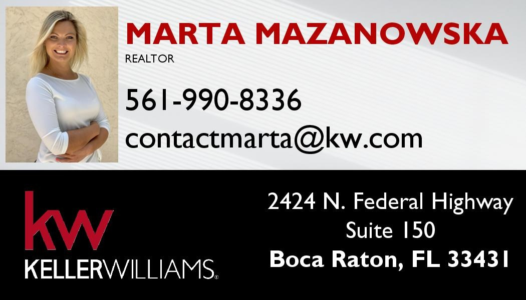 Marta Mazanowska agent nieruchomości South Florida
