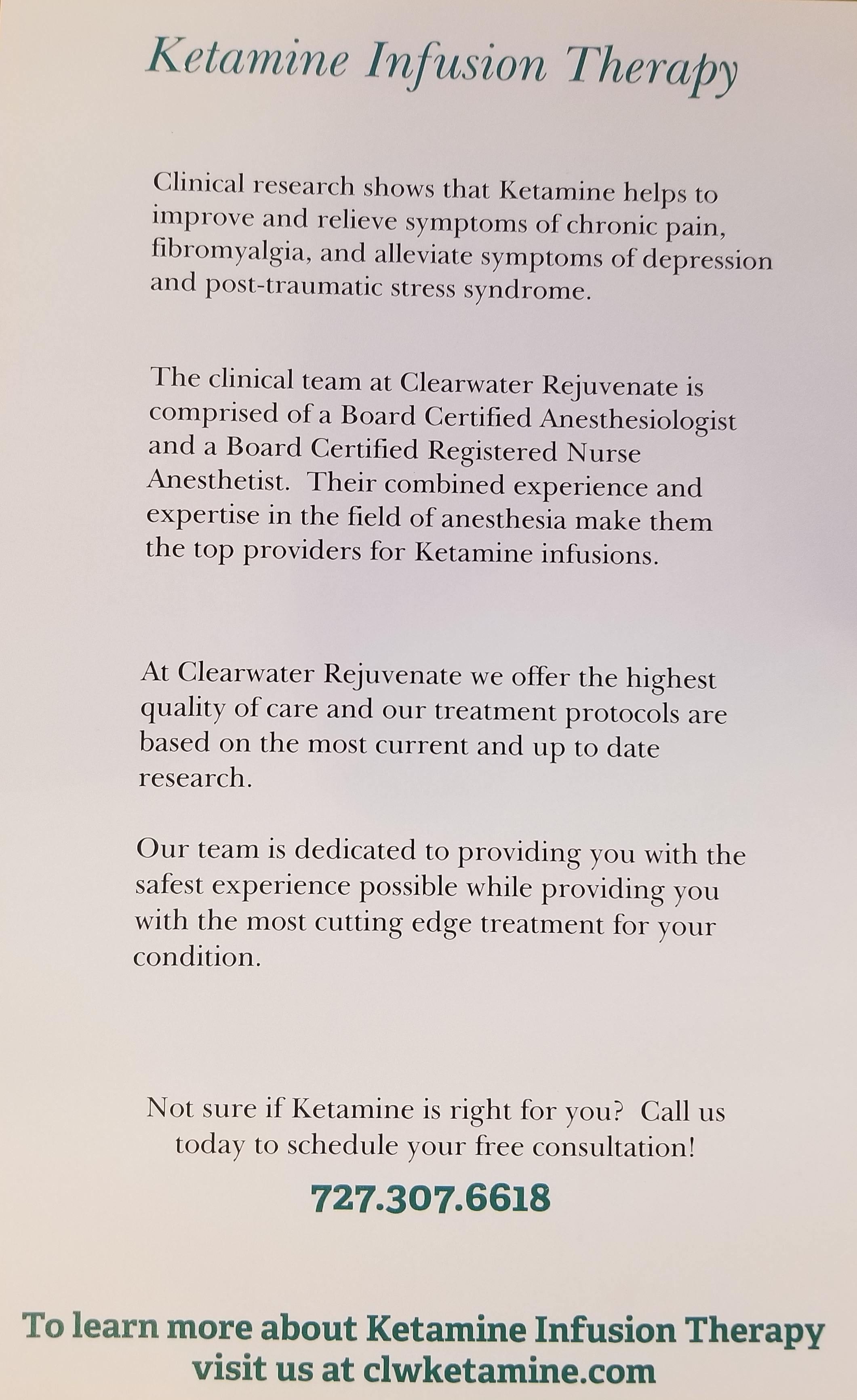 Ketamine Infusion Therapy