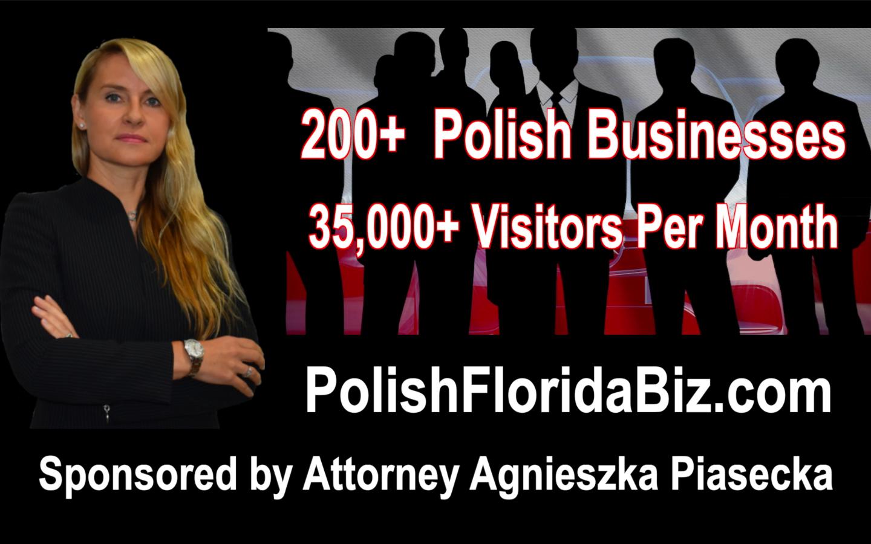 FREE Polish Business Directories Sponsored by Attorney Agnieszka Aga Piasecka. BEZPŁATNE polskie katalogi firm sponsorowane przez adwokata Agnieszkę Piasecką.