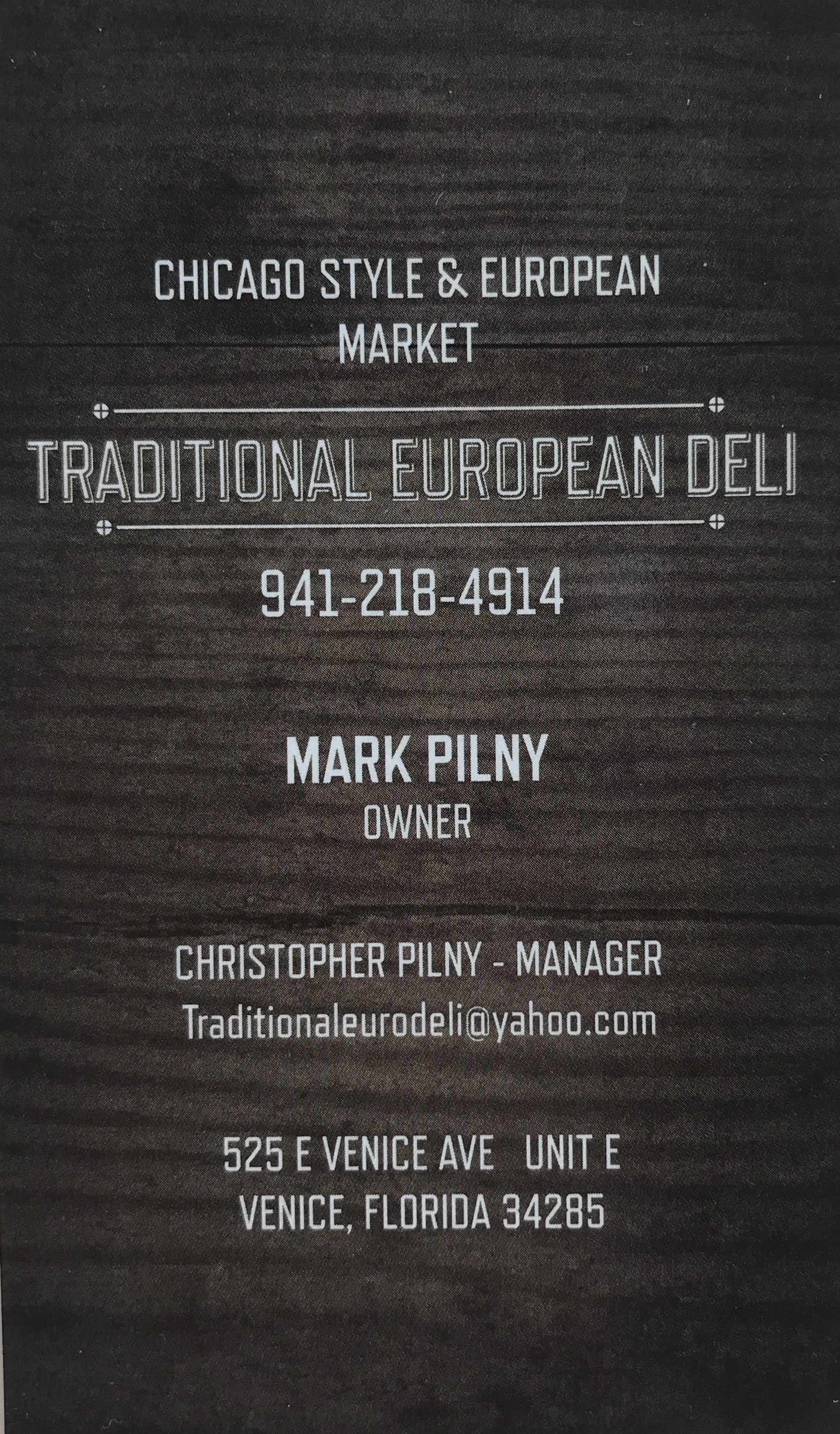 Mark Pilny - Polish Deli in Venice Sarasota
