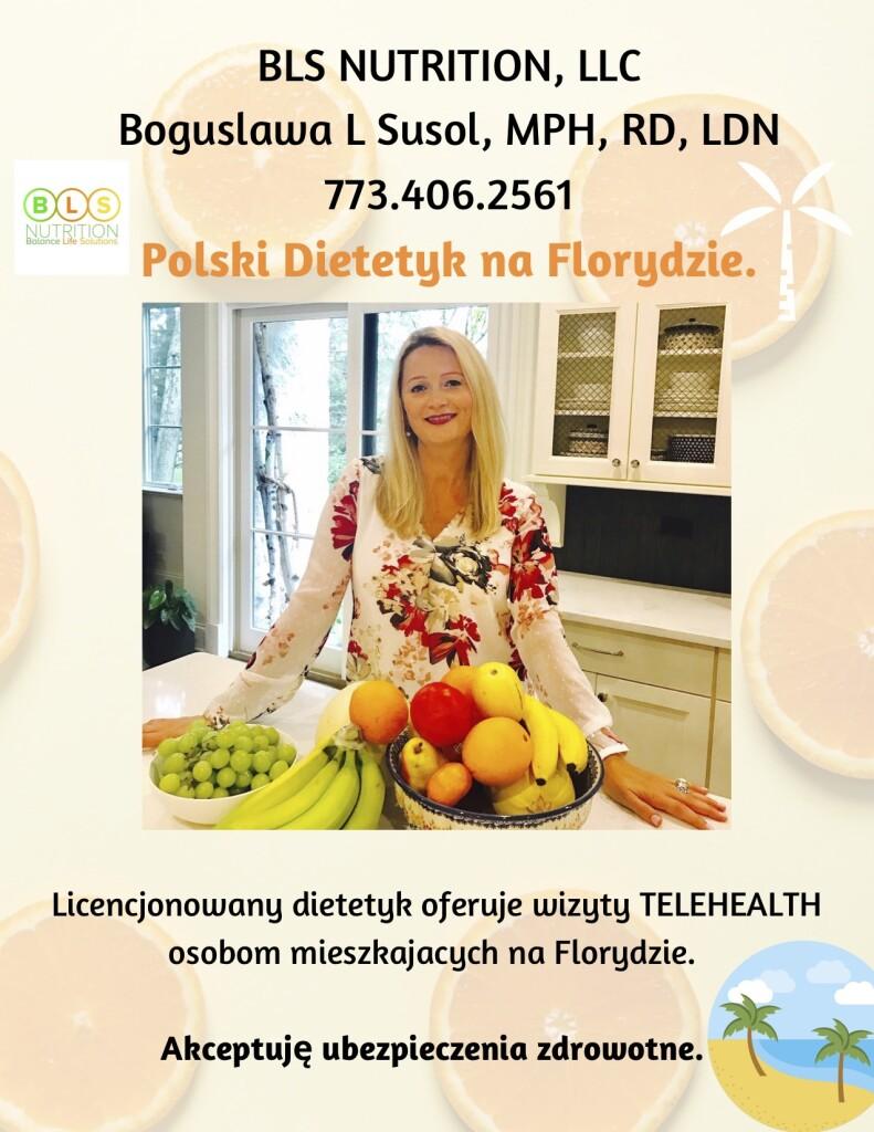 Boguslawa Susol, Polish, Dietitian, Polski, Dietetyk, Florida